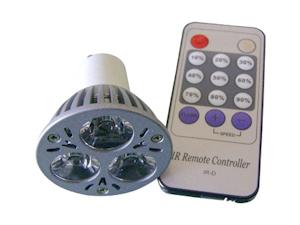 Led Spotlight GU10 3x1W med fjärrkontroll