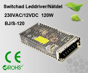 Switchad Leddriver/Nätdel 230VAC/12VDC 120W