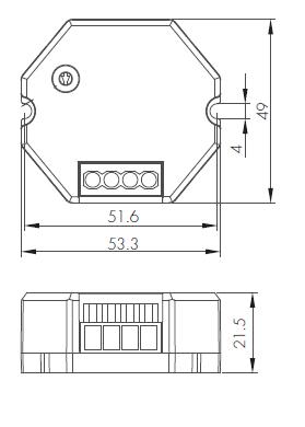 Led Dosdimmer 230VAC 150W Push