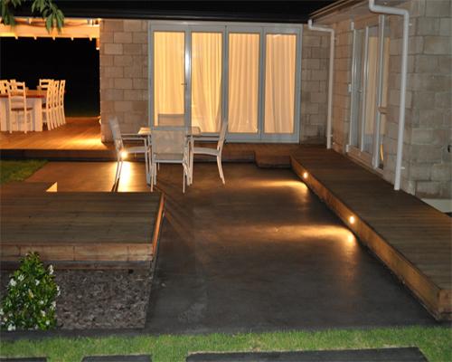 Trappa trappa lampa : LedVision AB - Deck/Floorlight Lampa 0,4W Vit/Varmvit