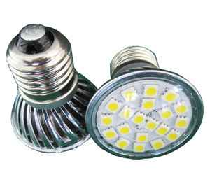 LED Spotlight SMD5050 E27 Varmvit