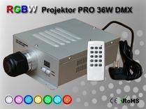 Fiberoptisk Ledprojektor 36W DMX RGBW