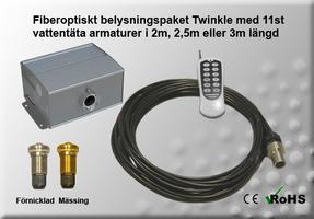 Fiberoptiskt Pool/Spapaket Twinkle 5W 2-3m 11st Armaturer