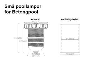 Små Poollampor Betong & Linerpool RGB Extern RF-Kontroller