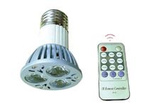 Led Spotlight E27 3x1W med fjärrkontroll