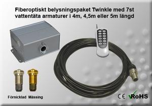 Fiberoptiskt Pool/Spapaket Twinkle 10W 4-5m 7st Armaturer