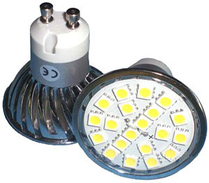 LED Spotlight SMD5050 GU10 Varmvit