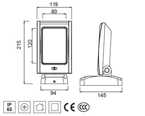 Led Vägglampa 12x1W Frostat Glas