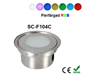 Inground Lampa 0,7W Kapslad  RGB