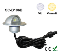 Deck/Floorlight Lampa 0,4W Keps Vit/Varmvit