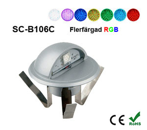 Deck/Floorlight Lampa 0,4W Keps RGB
