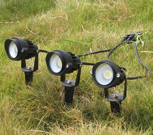 Led COB Trädgårdslampa 6W Vit/Varmvit