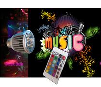 Ledlampa RGB E27 Musikstyrd