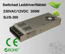 Switchad Leddriver/Nätdel 230VAC/12VDC 300W