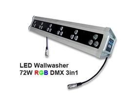 Led Wallwasher 230VAC 54W 3in1 RGB DMX