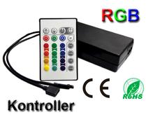 LED/RGB-kontroller 230VAC/12VDC Fjärrkontroll