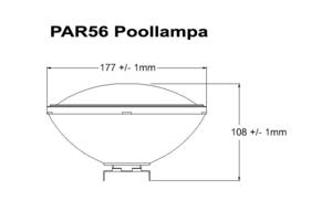 Poolbelysning PAR56 COB 40W Vit Rostfritt lamphus