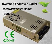Switchad Leddriver/Nätdel 230VAC/12VDC 350W
