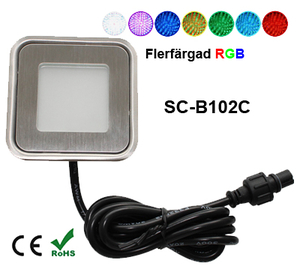 Deck/Floorlight Lampa 0,9W Ultra Thin RGB